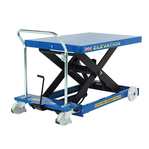 Using a scissor lift platform can help you film from different angles.